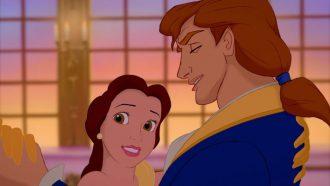 belle en de prins in het kasteel