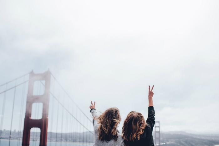twee vrouwen in Amerika, vakantie met zus