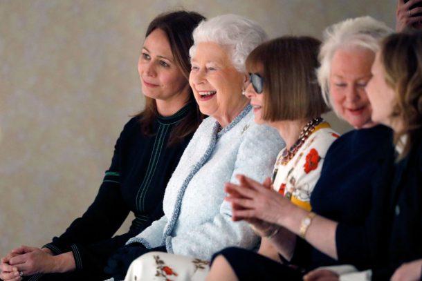 koningin engeland fashion week