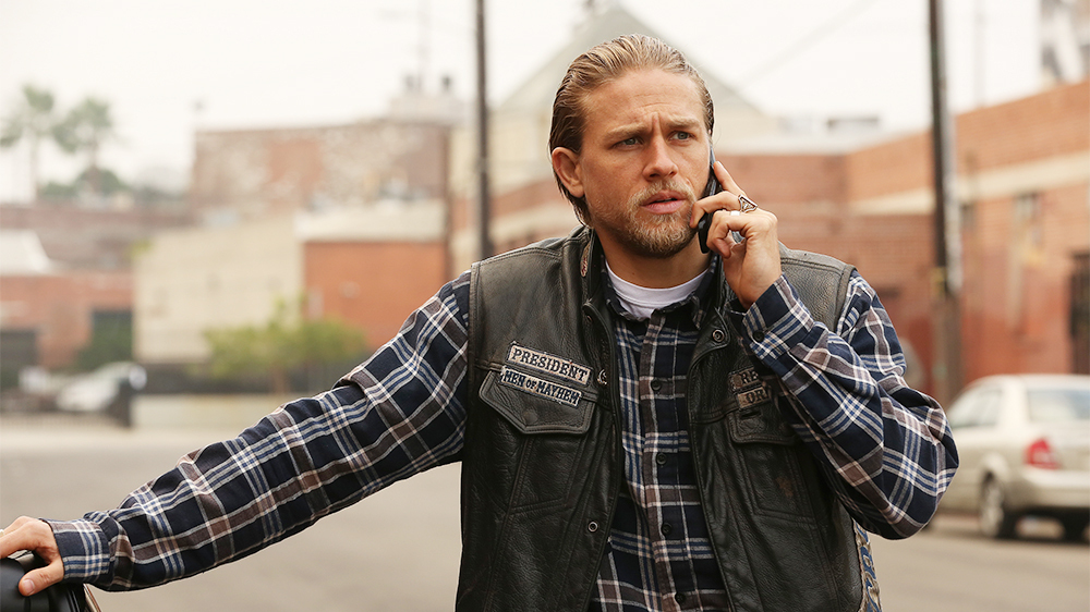Casually come Charlie hunnam naked on a harley