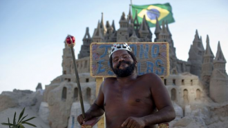 zandkasteel Brazilië