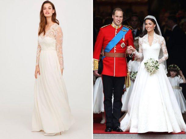 Er Is Een Betaalbare H M Dupe Van Kate Middletons Bruidsjurk