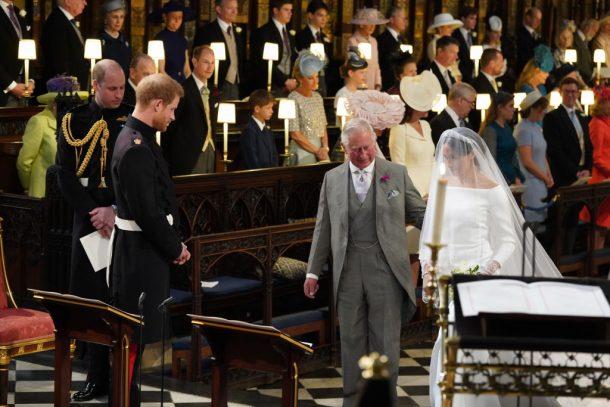 hoogtepunten royal wedding, prince charles en meghan markle