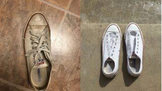 vieze schoenen schoonmaken