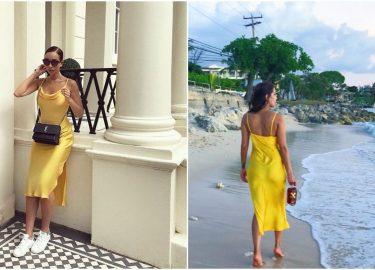 gele jurk topshop