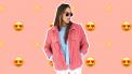 roze denim jacket
