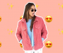 roze denim jacket
