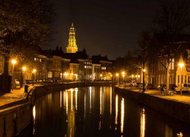 Foto van gracht in Groningen, wat te doen in Groningen