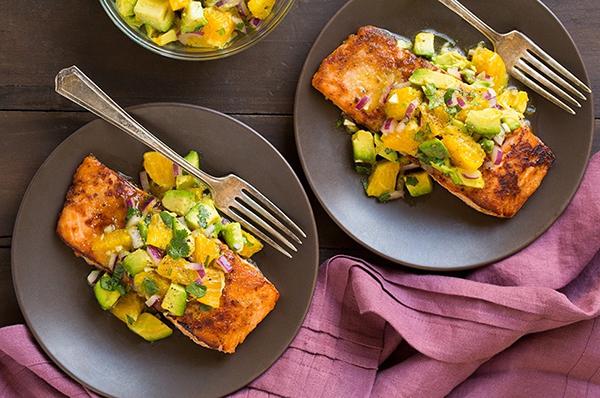 zomerse recepten zalm honing avocado