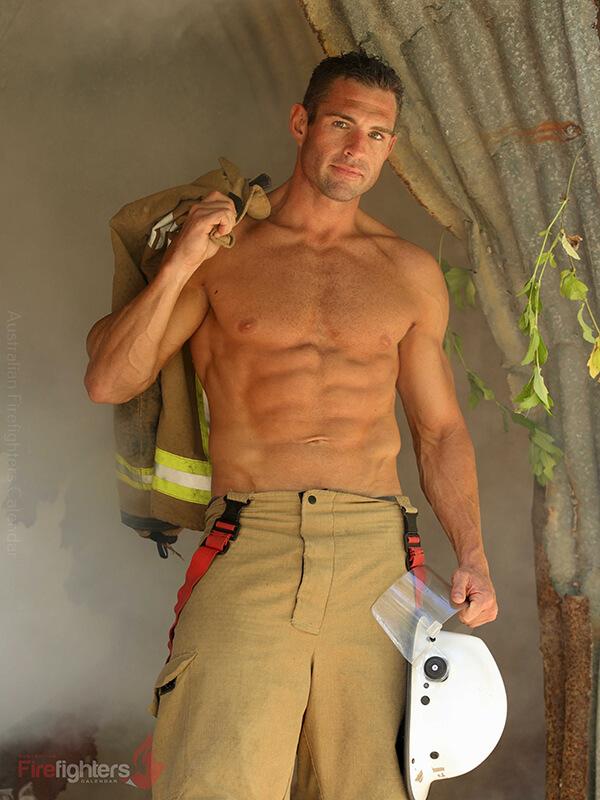 Australische brandweermannen poseerden voor een sexy kalender