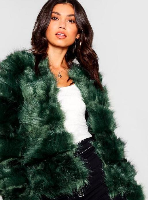 faux fur jassen