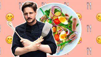marks menu salade niçoise tonijnsteak