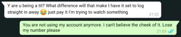 Netflix account ruzie vreemdeling