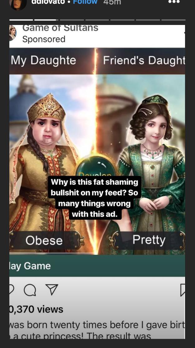 Demi Lovato fat shaming