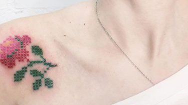 embroidery tattoo trend