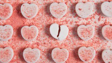 Single Valentijnsdag gebroken hart