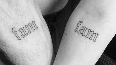 Matching tattoos familie broer zus