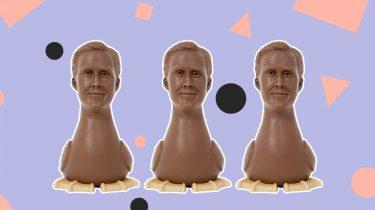 Ryan gosling chocolade paasei