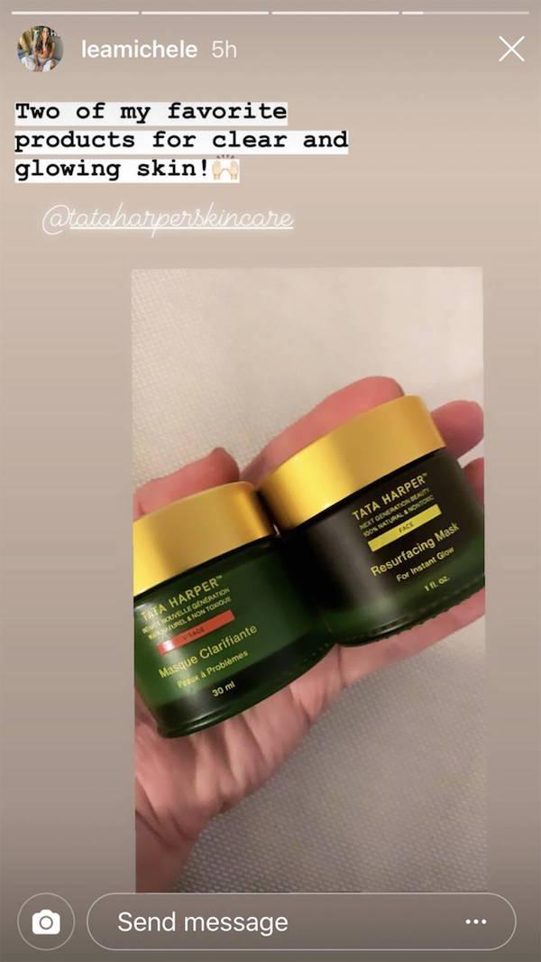 lea michele acne maskers