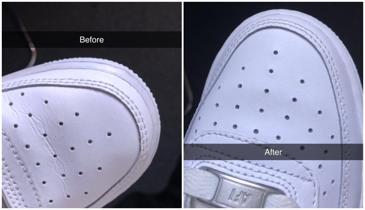 Met deze hack haal je binnen no time de kreukels uit je sneakers