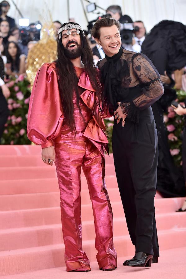 Harry Styles Gucci Met Gala ontwerpers