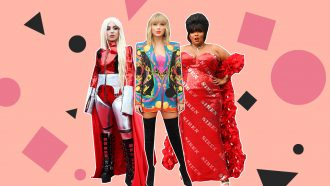 celebrities outfits VMA