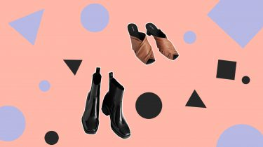 vierkante schoenen schoenentrend