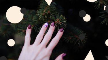 nail art voor kerst