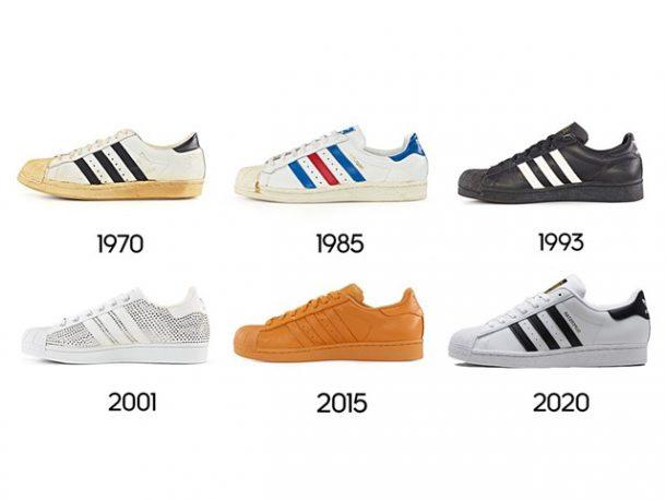 adidas suprestar door de jaren heen