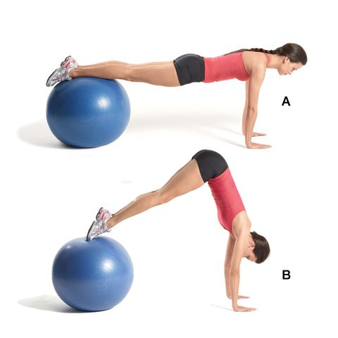 fitnessbal buikspieren